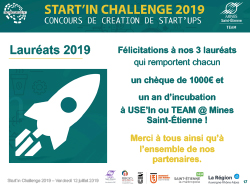 Félicitations aux lauréats du Start'in Challenge 2019